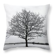 Snow On Epsom Downs Surrey Uk Throw Pillow