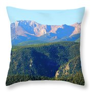 Snow On Pikes Peak Throw Pillow