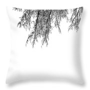 Snow On The Branches Three  Throw Pillow