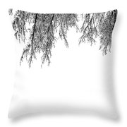 Snow On The Branches Two  Throw Pillow