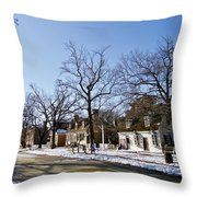 Snow On The Duke Of Gloucester Street  Throw Pillow