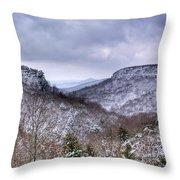 Snow On The Mesa Throw Pillow