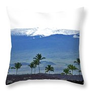 Snow On The Mountain Throw Pillow