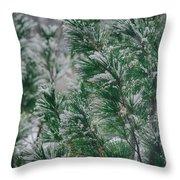 Snow On The Pine Throw Pillow