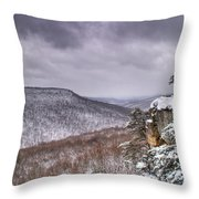 Snow On The Plateau Throw Pillow