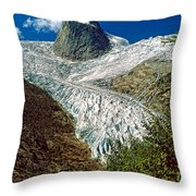 Snow Patch Spire Throw Pillow
