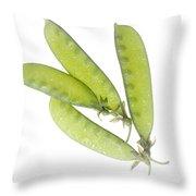 Snow Peas Throw Pillow