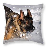Snow Play Throw Pillow