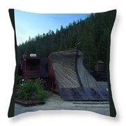 Snow Plow Throw Pillow