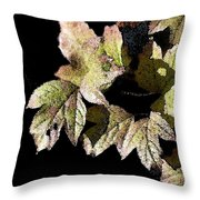 Snow Puff Leaves Throw Pillow