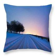 Snow Rizer Throw Pillow