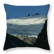 Snow Rock And Shadow Throw Pillow