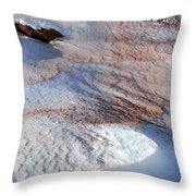 Snow Sand And Rocks Throw Pillow