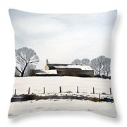 Snow Scene Barkisland Throw Pillow