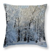 Snow Scene One Throw Pillow