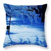 Snow Shadows Throw Pillow