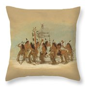 Snow Shoe Dance. Ojibbeway Throw Pillow