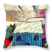 Snow Shovel Throw Pillow