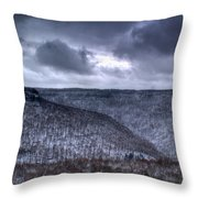 Snow Storm In The Mountains Throw Pillow