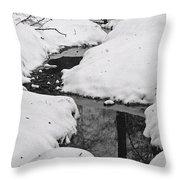Snow Stream 2 Throw Pillow
