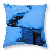Snow Stream Throw Pillow