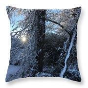 Snow Sunrise 2 Throw Pillow