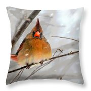 Snow Surprise Throw Pillow