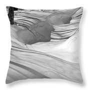 Snow Swirls Throw Pillow