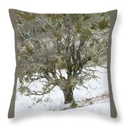 Snow Tree  Throw Pillow