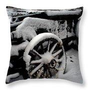 Snow Wagon Throw Pillow