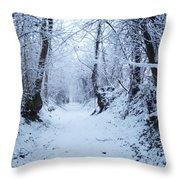 Snow Walk Throw Pillow