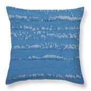 Snow Wall Art Throw Pillow