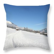Snow White Field Throw Pillow