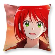Snow White With The Red Hair Throw Pillow
