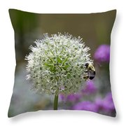 Snowball And The Bumblebee Throw Pillow
