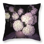 Snowball Bouquet Throw Pillow