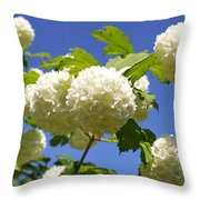Snowballs Throw Pillow