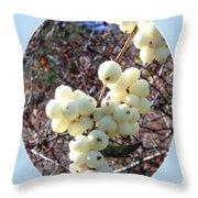 Snowberry Cluster Throw Pillow