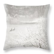 Snowbirds 2 Throw Pillow