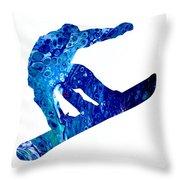 Snowboarder Throw Pillow