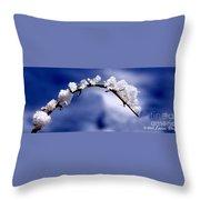 Snowbridge #5 Throw Pillow