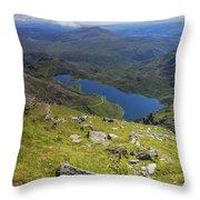 Snowdon View Throw Pillow