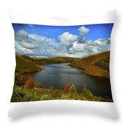 Snowdonia Landscape Throw Pillow