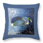 Snowdrops Bowl Throw Pillow