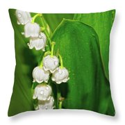 May-lily Throw Pillow