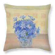 Snowdrops In A Glass Throw Pillow