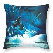 Snowee Throw Pillow