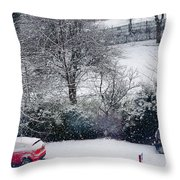 Snowfall 1 Throw Pillow