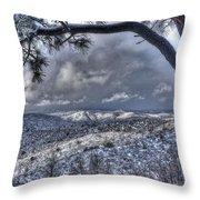 Snowfall Covers Northern Arizona For Christmas Throw Pillow