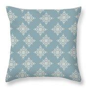 Snowflake By Piel Throw Pillow
